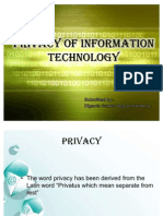 Privacy of Information Technology