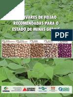 Cultivares de feijão recomendadas para o Estado de Minas Gerais