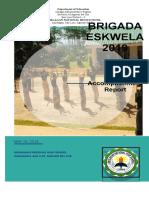Narrative Report - Brigada Eskwela