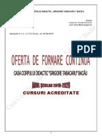 2019 Oferta Formare 2020 Acreditate Site Coduri