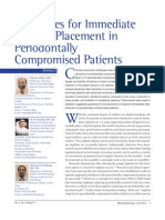 Guidelines for Immediate Implant Placement in Periodontally Compromised Patients