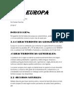 Informe de Europa