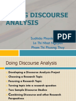 Doing Discourse Analysis Ppt