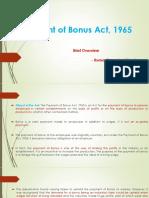 Payment of Bonus Act, 1965 - Copy