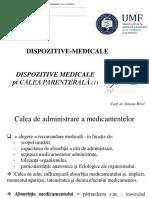 Dispozitive medicale pentru administrarea parenterala