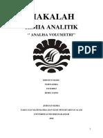 Makalah Kimia Analitik Analisa Volumetri