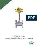 F4001 Vortex Flowmeter Manual