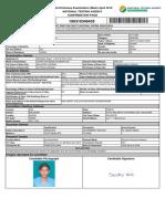 JEE(Main) ConfirmationPage
