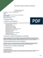 29703 - Expresión Gráfica y Diseño Asistido Por Ordenador