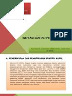 Inspeksi Sanitasi Pelabuhan Laut PPT
