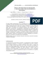 MARCO TEÓRICO Y METODOLÓGICO DE EDUCACIÓN AMBIENTAL E INTERCULTURAL PARA UN DESARROLLO SOSTENIBLE