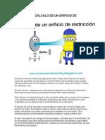 SMARTPLANT CÁLCULO DE UN ORIFICIO DE RESTRICCIÓN.docx