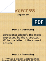 PROJECT 555 - Observing (Day1)