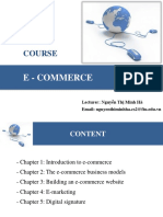 Chapter 1 - Introduction to E-commerce