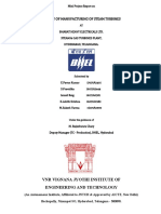 A Study of Manufacturing of Steam Turbines