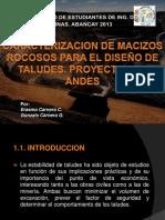 249825325 Caracterizacion de Macizos Taludes en Roca ERASMO CARNERO UNA Pptx