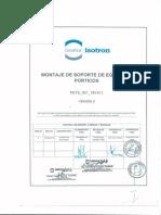 PETS MONTAJE 001 Montaje de Soporte de Equipos REV 0