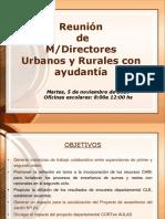 Reuniòn MDirectores Urbanos y Rurales Noviembre Divulgar