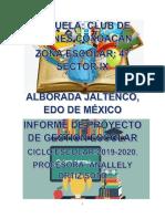 Informe de Proyecto Escolar ANALLELY