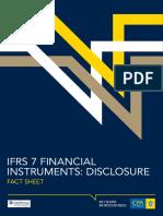 Factsheet IFRS7 Financial Instruments Disclosure