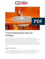 7 Tips for Keeping Drains Clean and Unclogged