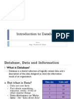 L1 - Introduction to Databases