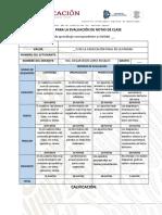 Rúbrica Para La Evaluación de Notas de Clase