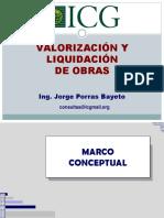 Valorizaciones y Liquidación de obra