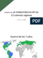 3 - unidad 3 Guerra de independencia de las 13 colonias inglesas.pptx