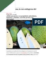 Veneficios de La Guanabana