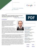 ConJur - Análise Do Custo-benefício Evita Erros Em Decisões Ambientais
