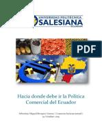 Hacia donde debe ir la Politica Comercial del Ecuador.docx