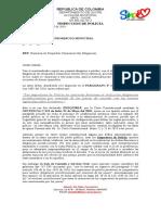 Modelo de Oficio Juzgado Despachos Comisorios Diligencias de Secuestros - 2019 - Devolución Sin Tramitar