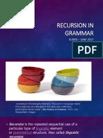 Recursion in Grammar