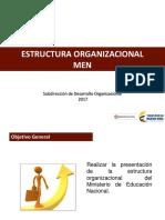Estructura organizaciónal MEN