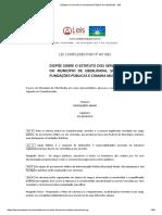Estatuto Do Servidor (Funcionário) Público de Uberlândia - MG