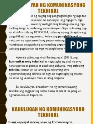 13 Mga Halimbawa Ng Komunikasyong Teknikal Png Trabaho Halimbawa Paghahatid o pagbibigay ng impormasyon sa mabisang paraan; trabaho halimbawa
