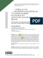 Ideologías lingüísticas y nacionalismo en Archipiélado de Ricardo Rojas