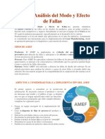 AMEF o Análisis Del Modo y Efecto de Fallas