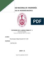 INFORME 1 - CIENCIA DE LOS MATERIALES I