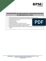 Documentos Para Alquiler - SARLAFT