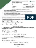 Examen de Matematicas i 1er Parcial