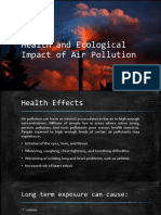 Health and Ecological Impact of Air Pollution