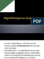 Algorithmique Au Lycee