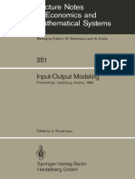 Input Output Modelling