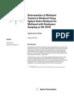 Column for Methanol Content