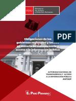 Cartilla Obligaciones de Los Gobiernos Regionales y Locales en Materia de TAIP