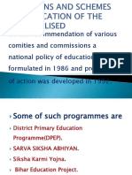 Provisions and SchemPROVISIONS AND SCHEMES FOR EDUCATION OF THE MARGINALISEDes for Education of the Marginalised