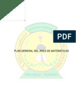 Plan General de Area de Matematicas 2019 Copetencias Basicas