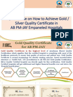 A Quick Guide on How to Achieve Gold / Silver Quality Certificate